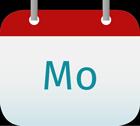 Kalendericon Montag