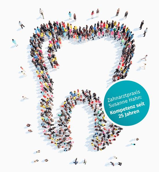 Leute kommen zum Zahnarzt